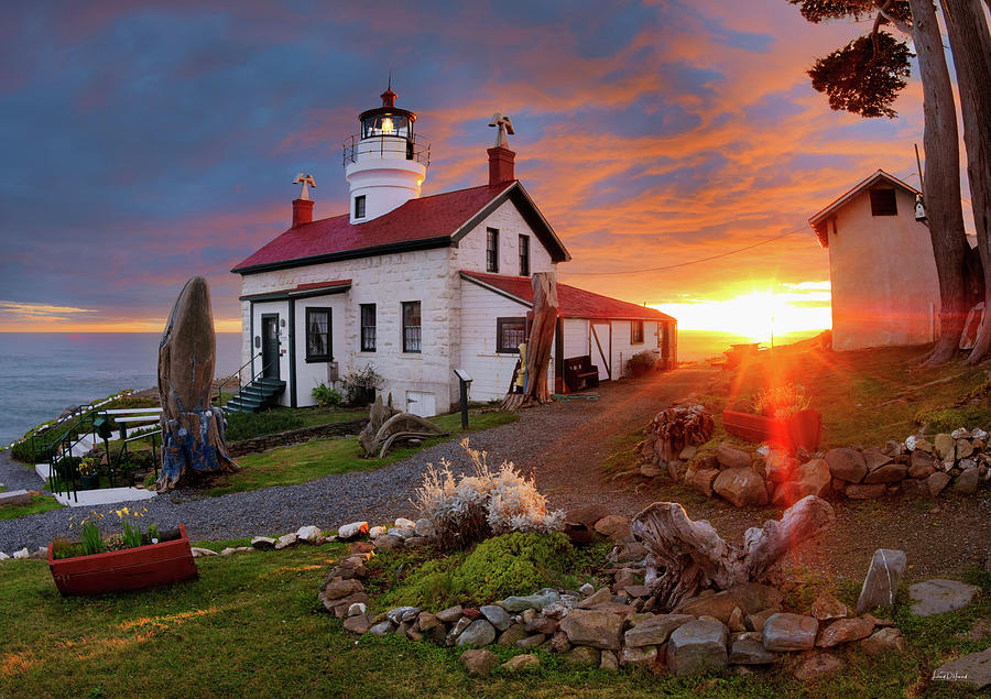 Beautiful Photograph - Battery Point Lighthouse by Leland D Howard