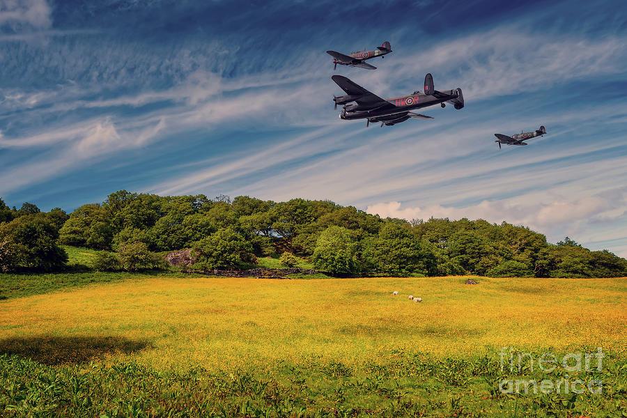Battle of Britain Memorial Flight  by Adrian Evans