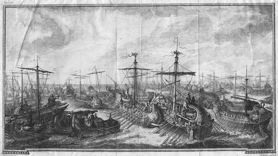 Battle Of Cape Ecnomus Photograph by Hulton Archive