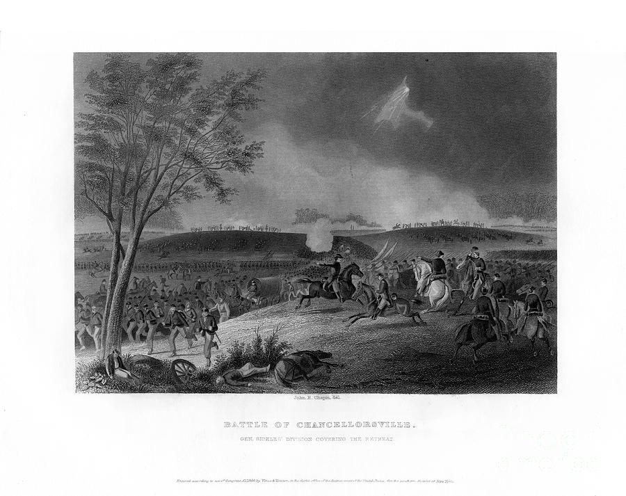 Battle Of Chancellorsville, Fought Drawing by Print Collector