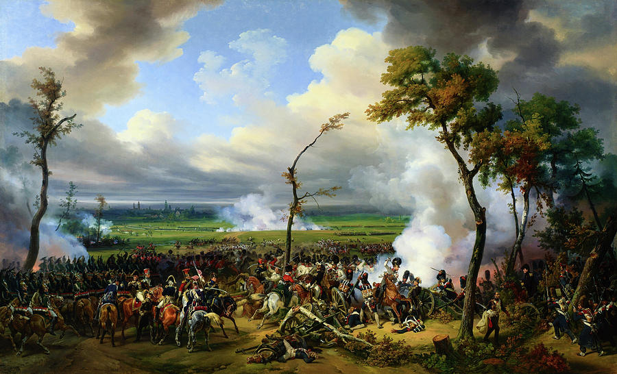 Battle Of Hanau Painting - Battle Of Hanau - Digital Remastered Edition by Horace Vernet