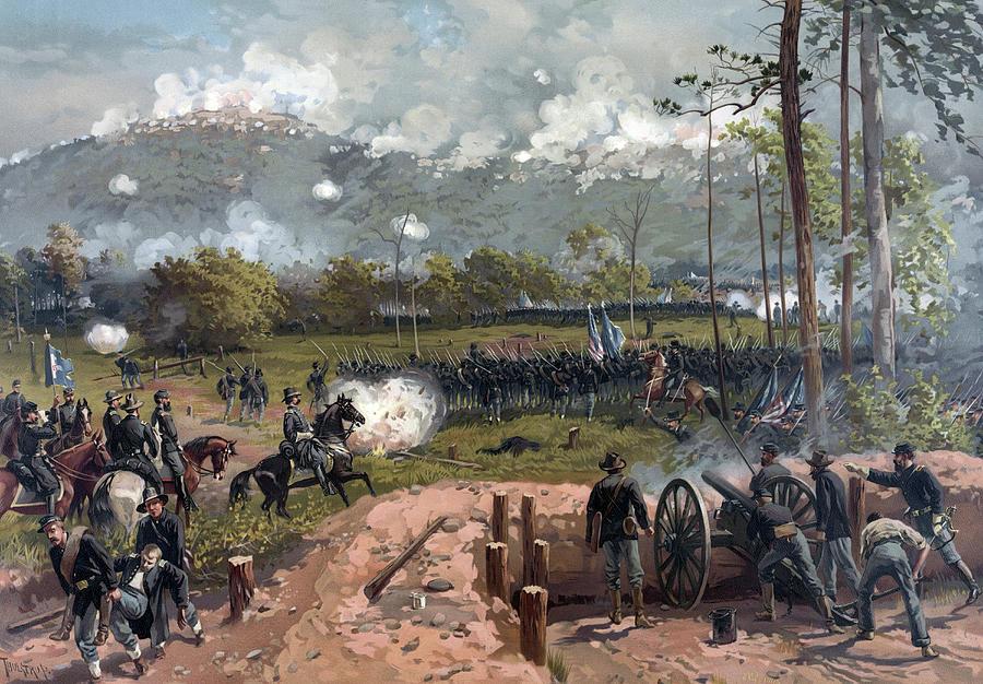 Civil War Photograph - Battle Of Kennesaw Mountain Circa 1864 by Stocktrek Images