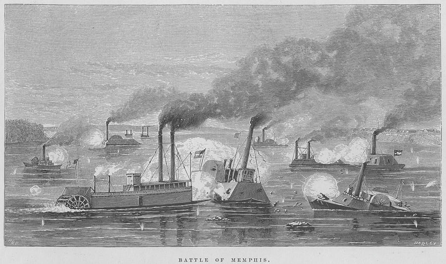 Battle Of Memphis Photograph by Kean Collection