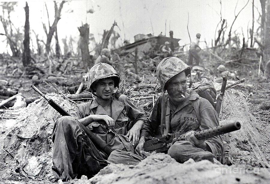 Battle of Peleliu - U S M C - 1944 by Doc Braham