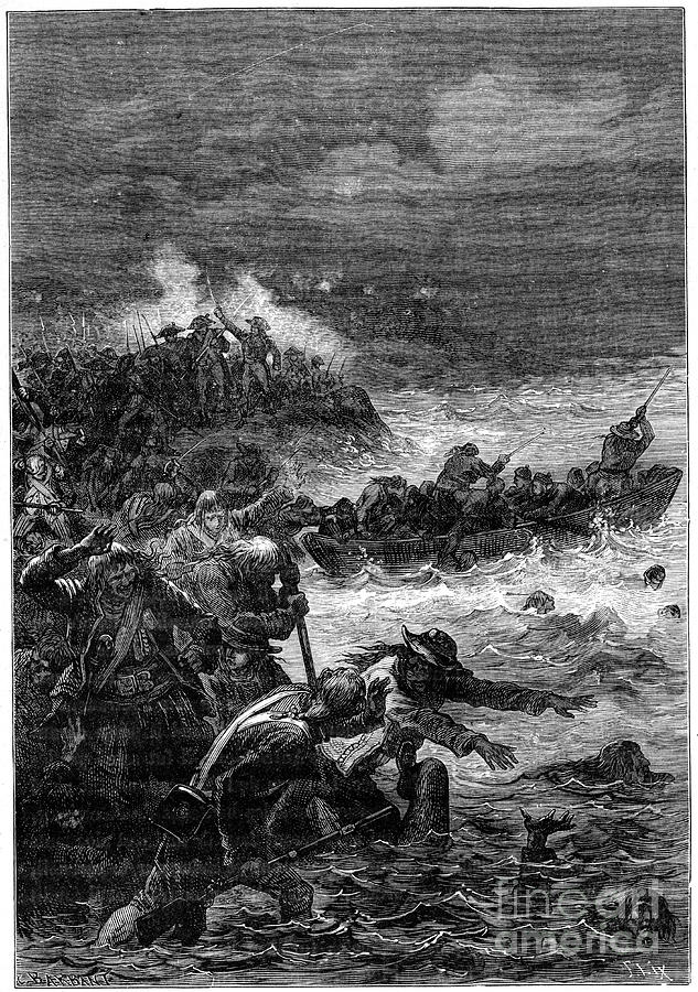 Battle Of Quiberon, 1898. Artist Barbant Drawing by Print Collector