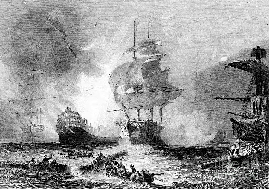 Battle Of The Nile, 1 August 1798 Drawing by Print Collector