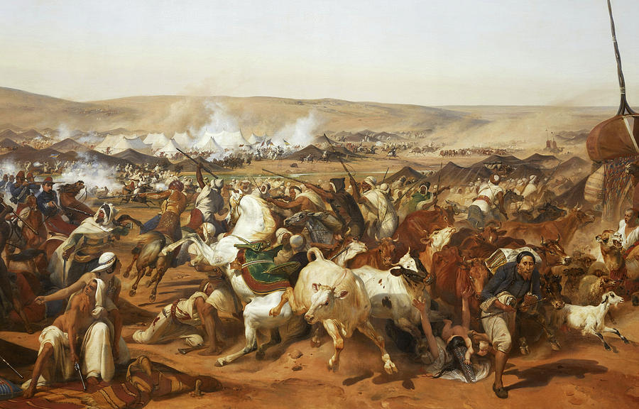 Horace Vernet Painting - Battle Of The Smala by Emile Jean-Horace Vernet