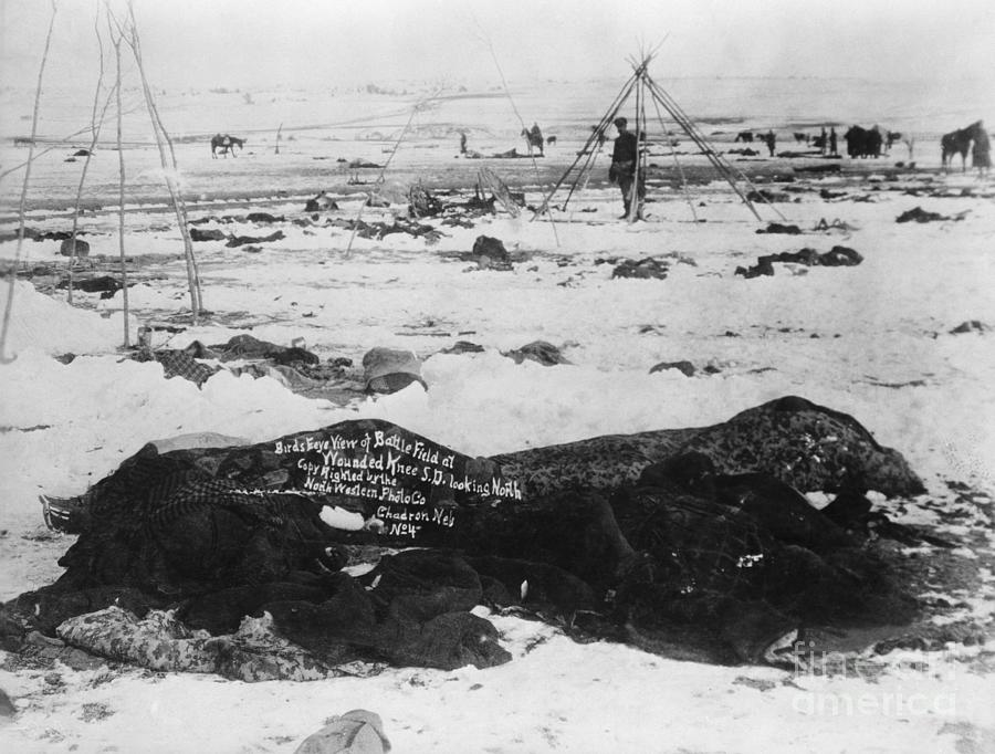 Battlefield At Wounded Knee 1890 Photograph by Bettmann