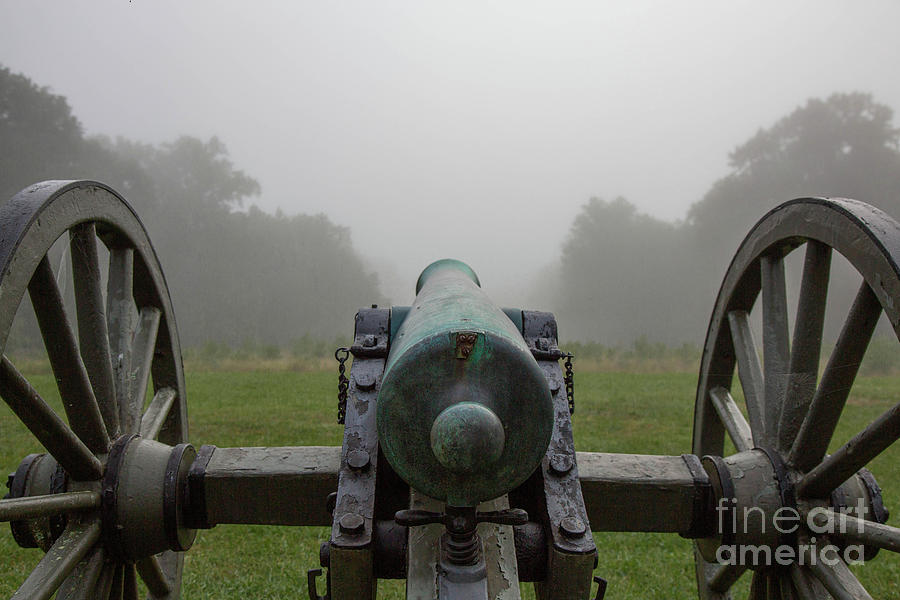 Battlefield Canon in Mist Chancellorsville Virginia by Kimberly Blom-Roemer