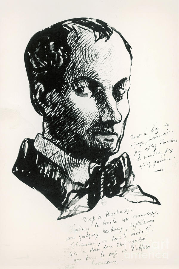 Baudelaire Self-portrait by Charles Baudelaire