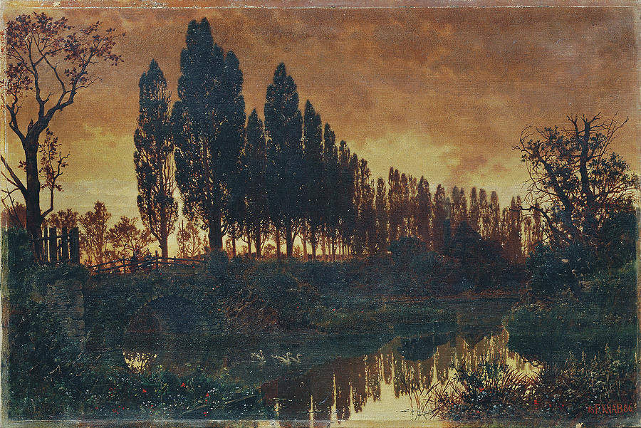 Bavarian Landscape by Ferdinand Knab