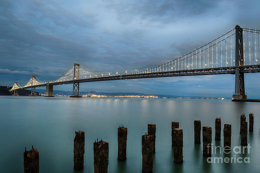 Bay Bridge at Night by Jennifer Ludlum