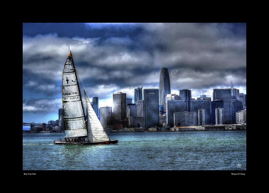 Bay City Sail Poster by Wayne King
