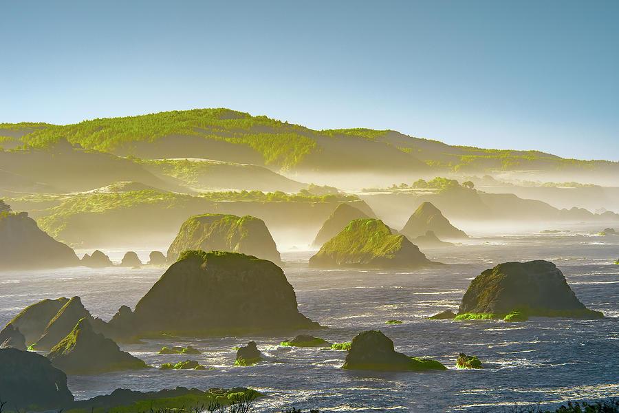 Ocean Photograph - Bay In California by Jon Glaser
