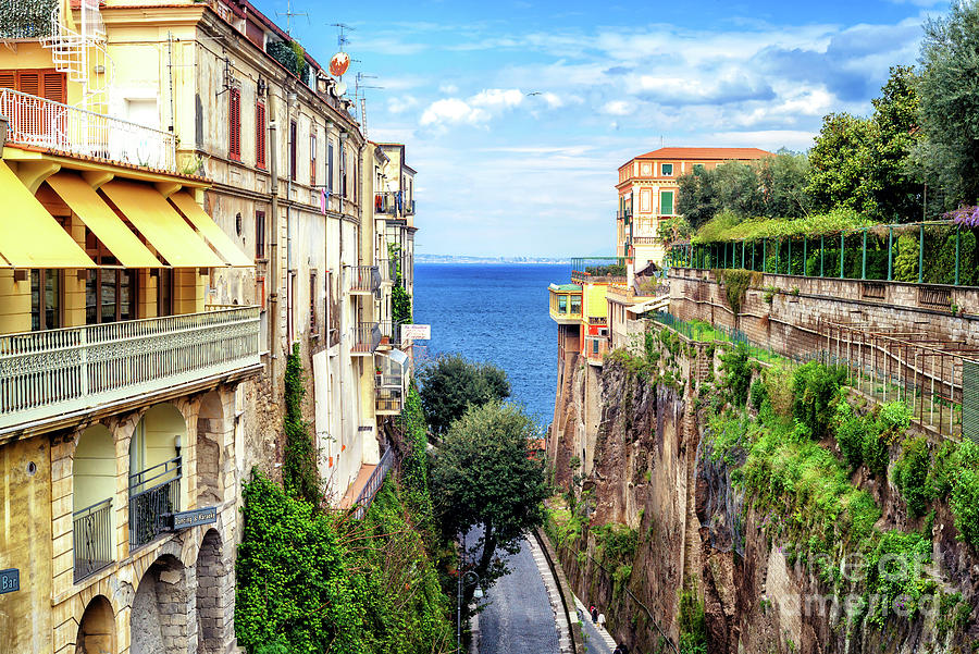 Bay of Naples View in Sorrento by John Rizzuto