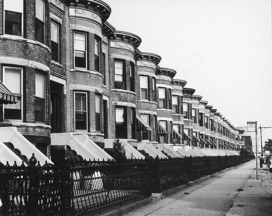 Bay Ridge Street, 1959 Photograph by Fred W. McDarrah