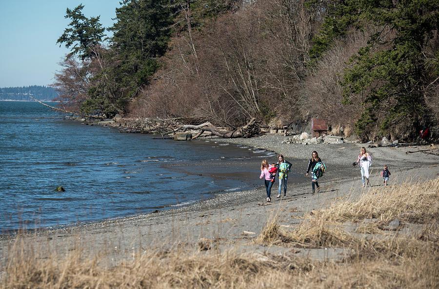 Bay View Beach Walkers by Tom Cochran