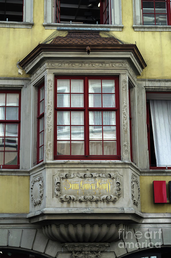 bay windows in Schaffhausen by Michelle Meenawong