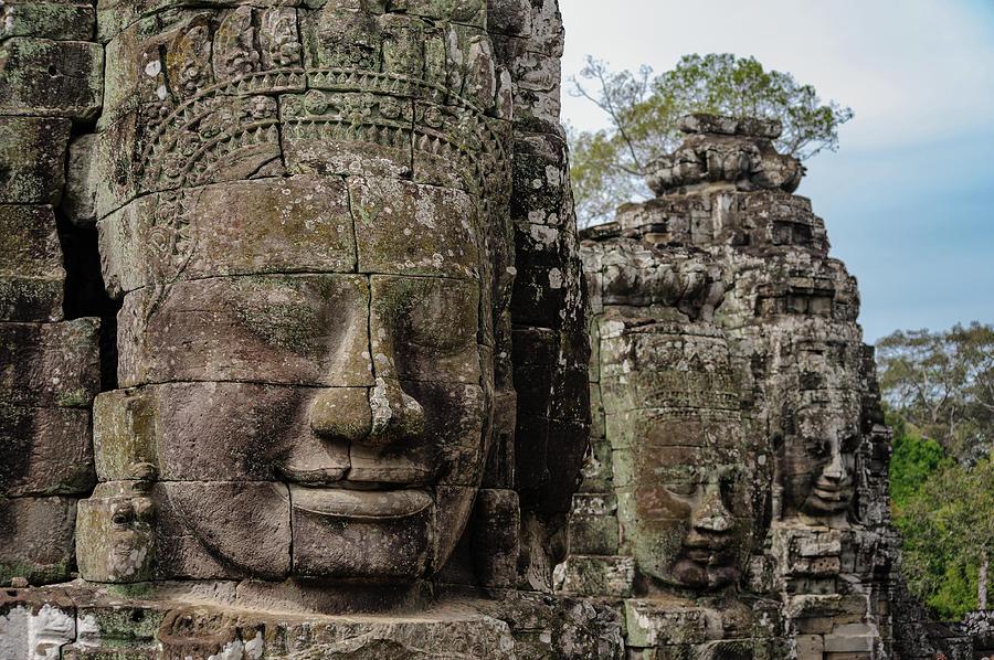 Cambodia Photograph - Bayon Faces, Angkor Wat, Cambodia by Ian Robert Knight