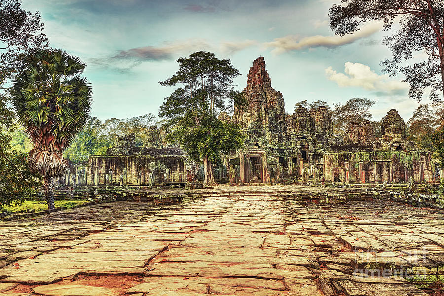 Bayon Temple Angkor Wat Unesco World Heritage Site Photograph