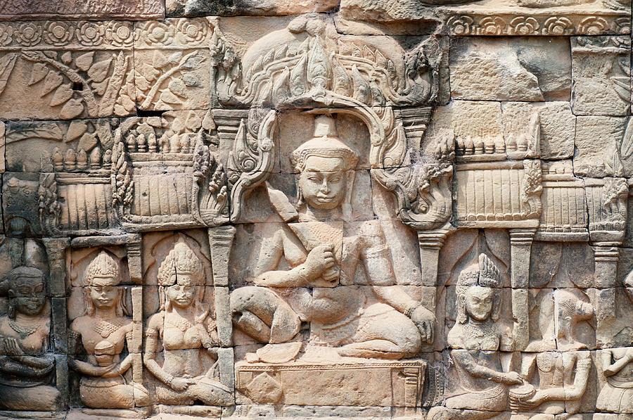 Bayon Temple Carvings Photograph by Leezsnow