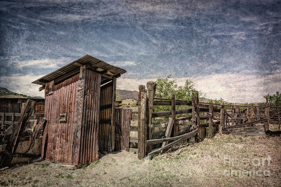Bcr Outhouse 3 Textured Photograph