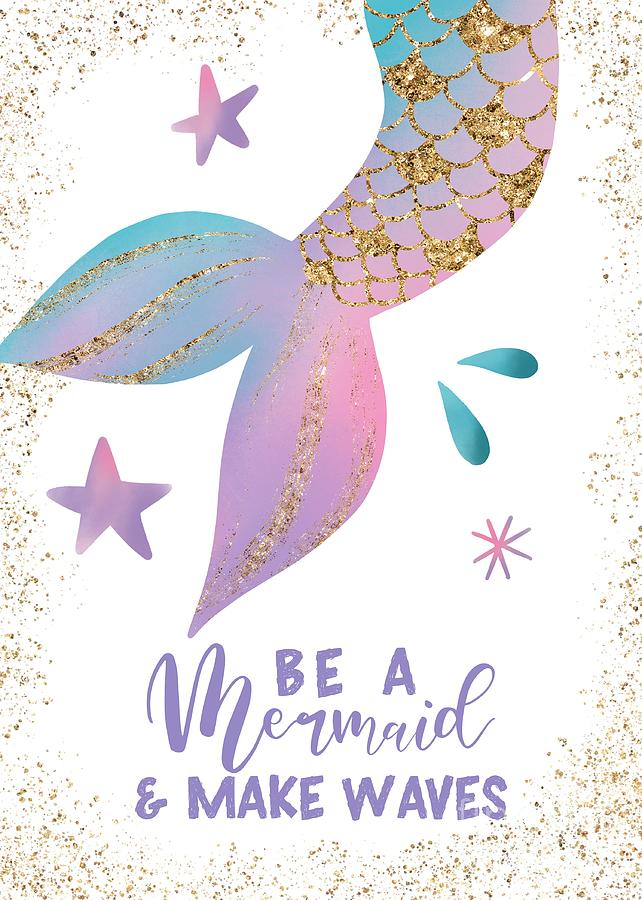 Be A Mermaid And Make Waves by NamiBear