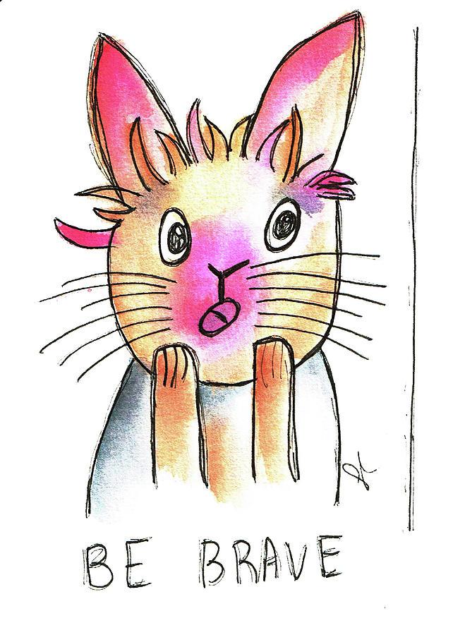 Be Brave Rabbit  by Angel Sharum