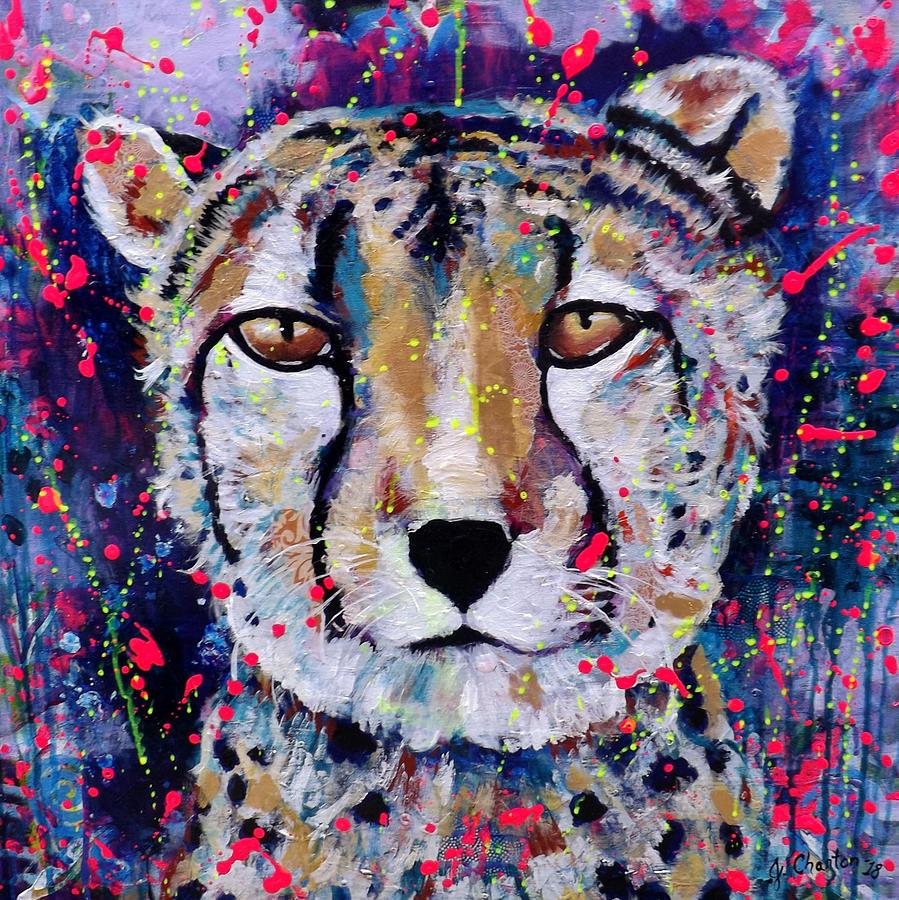 Cheetah Painting - Be Fearless by Jennifer Charton