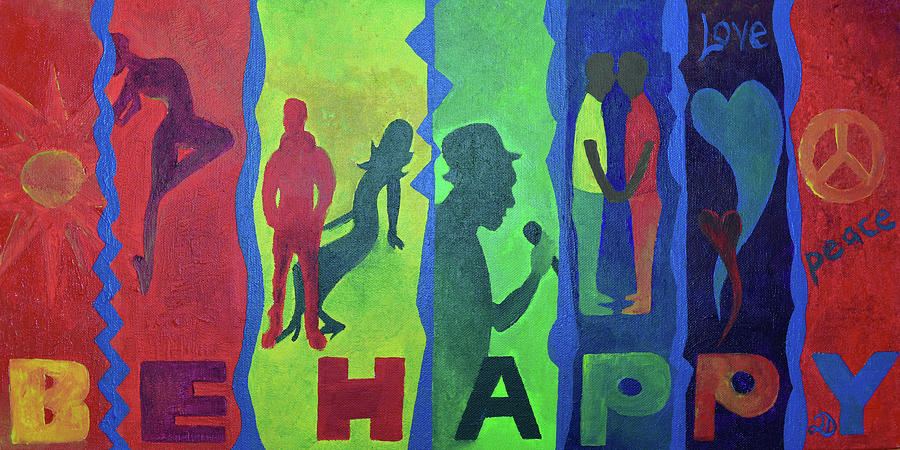 Lgbt Painting - Be Happy by Marquan Martin