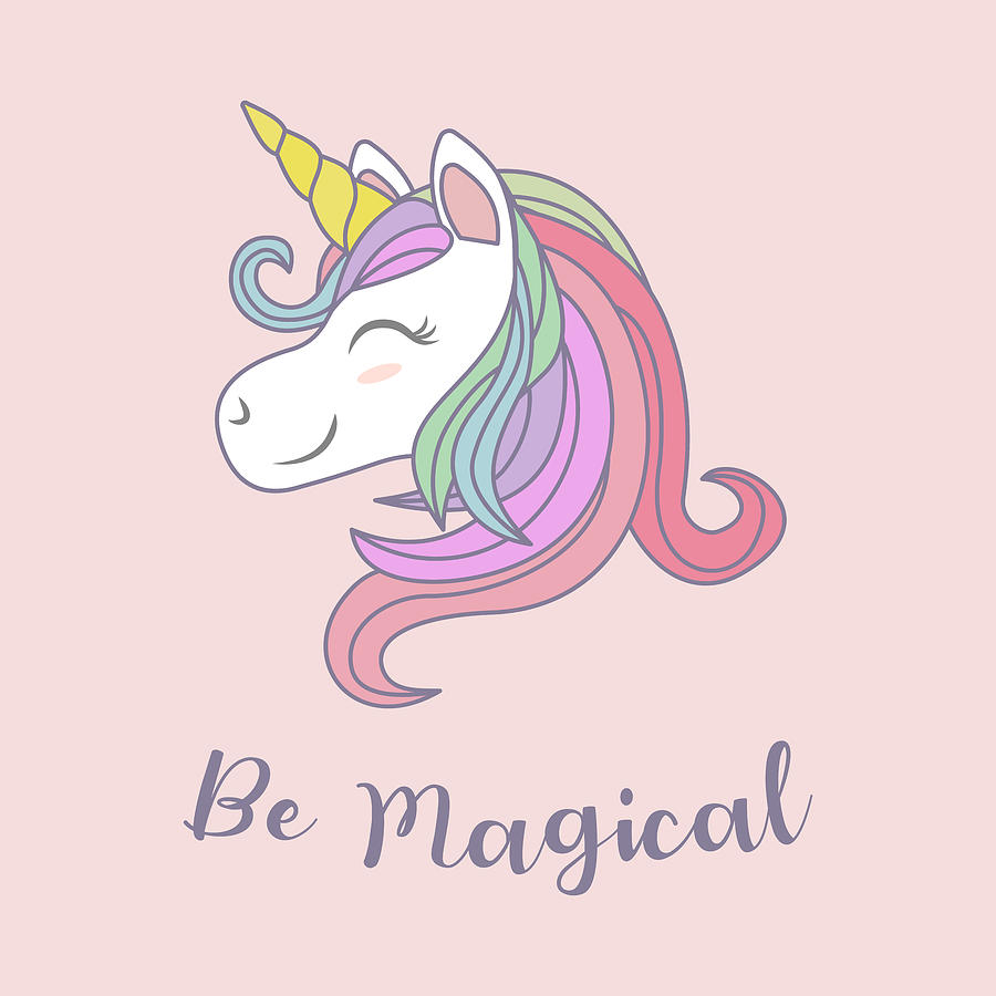 Be Magical - Baby Room Nursery Art Poster Print by Dadada Shop