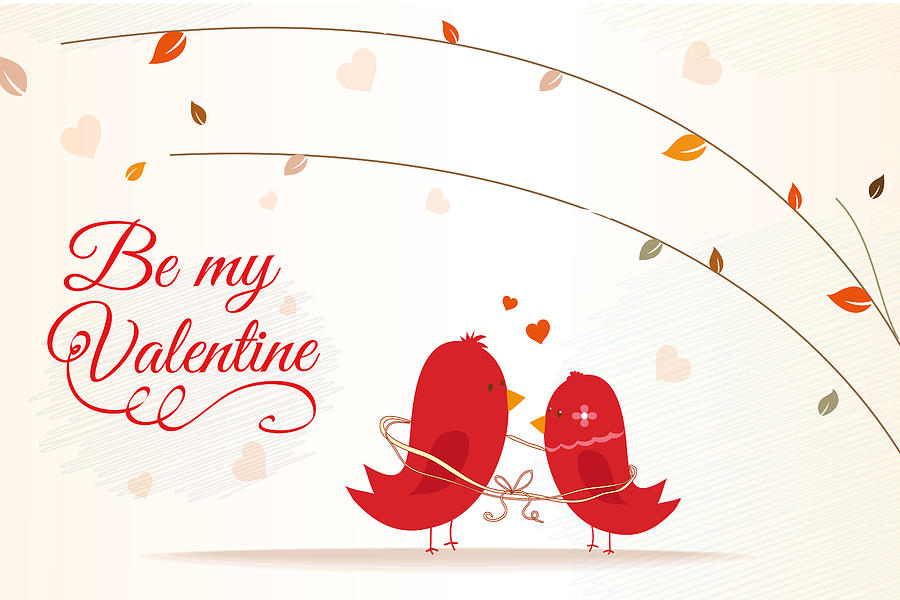 love bird on valentine