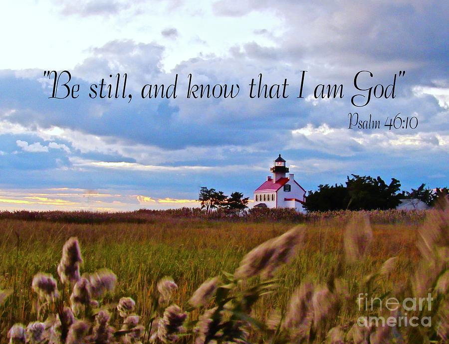 Be Still at East Point Lighthouse by Nancy Patterson