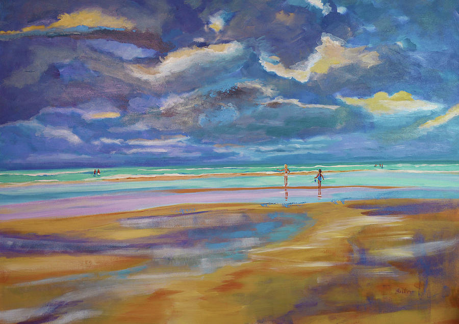 Beach Afternoon Painting by Julianne Felton