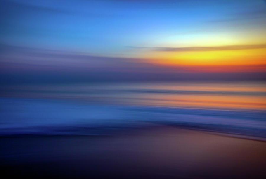 Beach Art Ocean Sunrise Abstract by R Scott Duncan