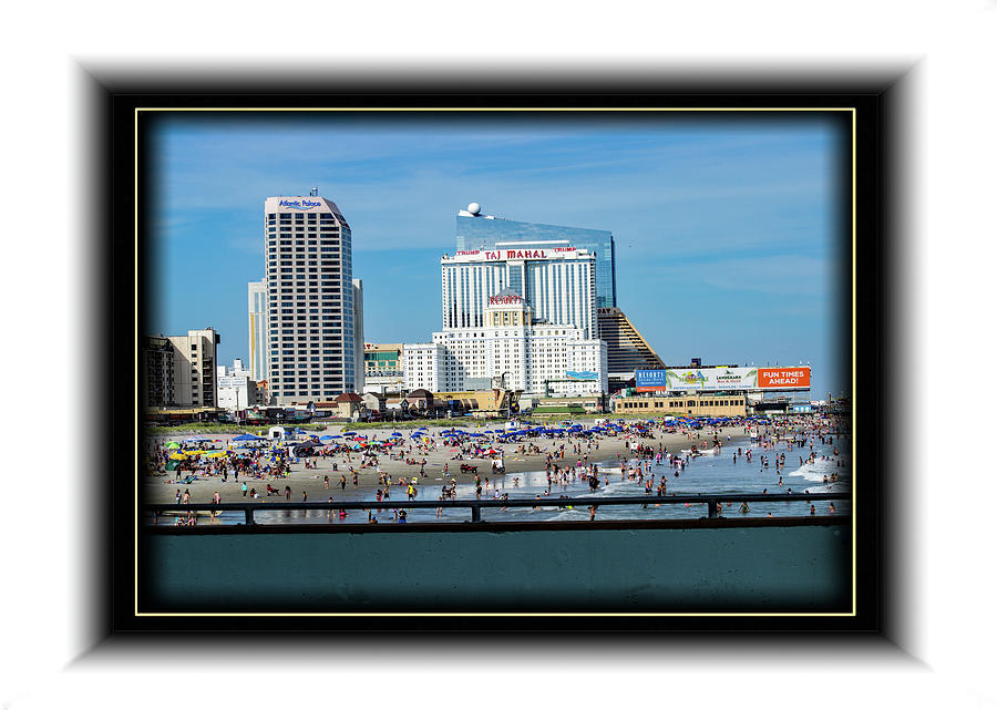 Beach at Atlantic City by Richard Risely