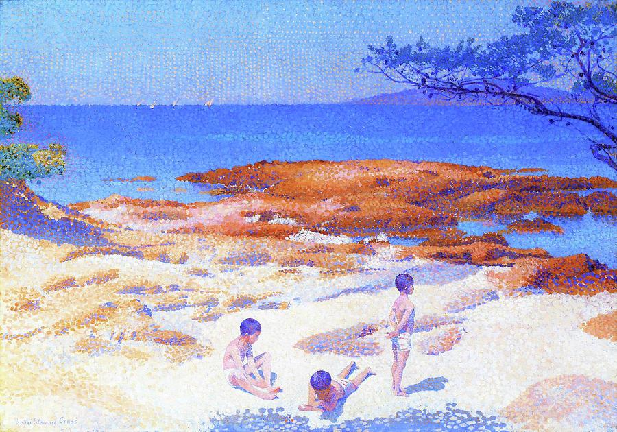 Henri Edmond Cross Painting - Beach At Cabasson - Digital Remastered Edition by Henri Edmond Cross
