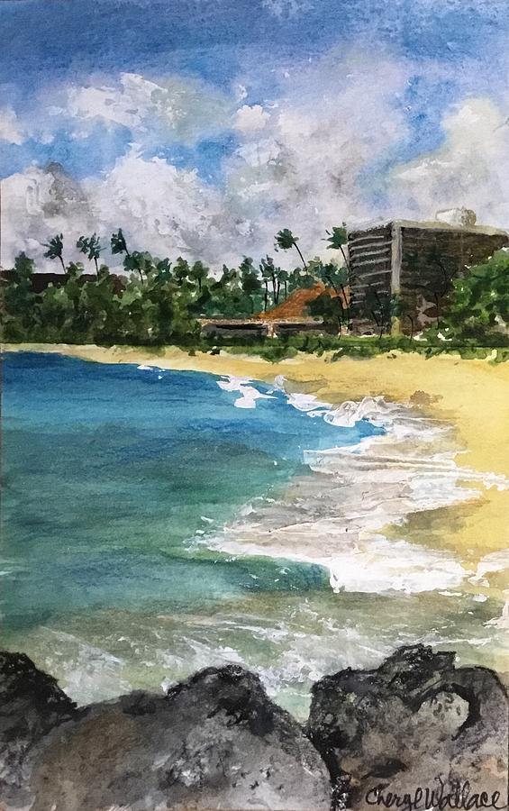 Maui Painting - Beach at Lahaina by Cheryl Wallace