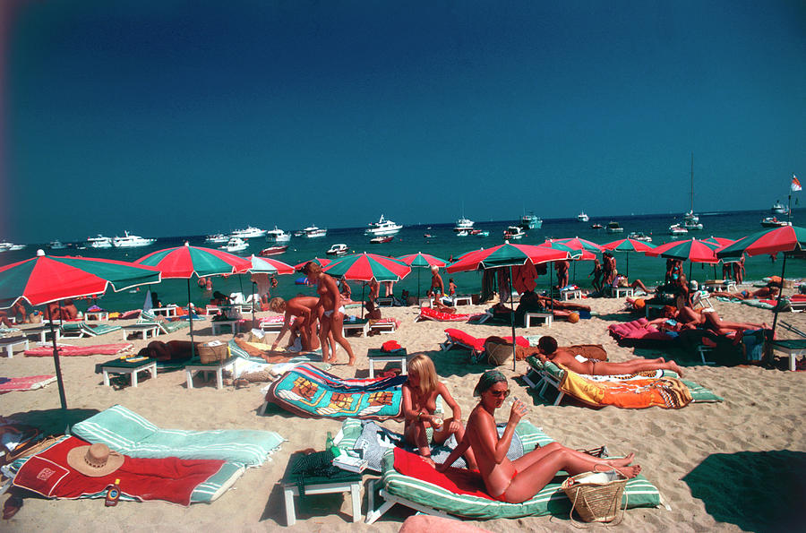 Beach At St. Tropez Photograph by Slim Aarons