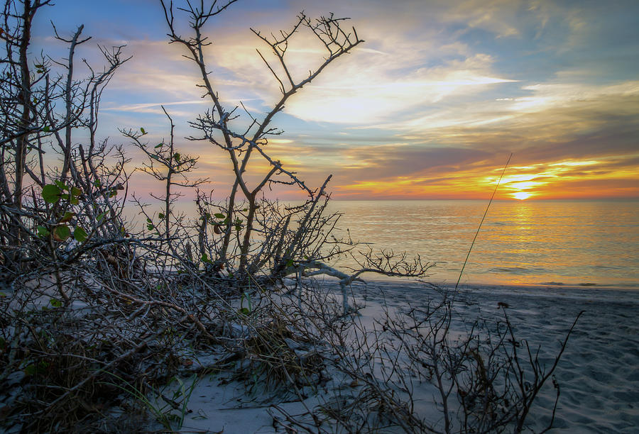 Beach at Sunset in Englewood, Florida by R Scott Duncan