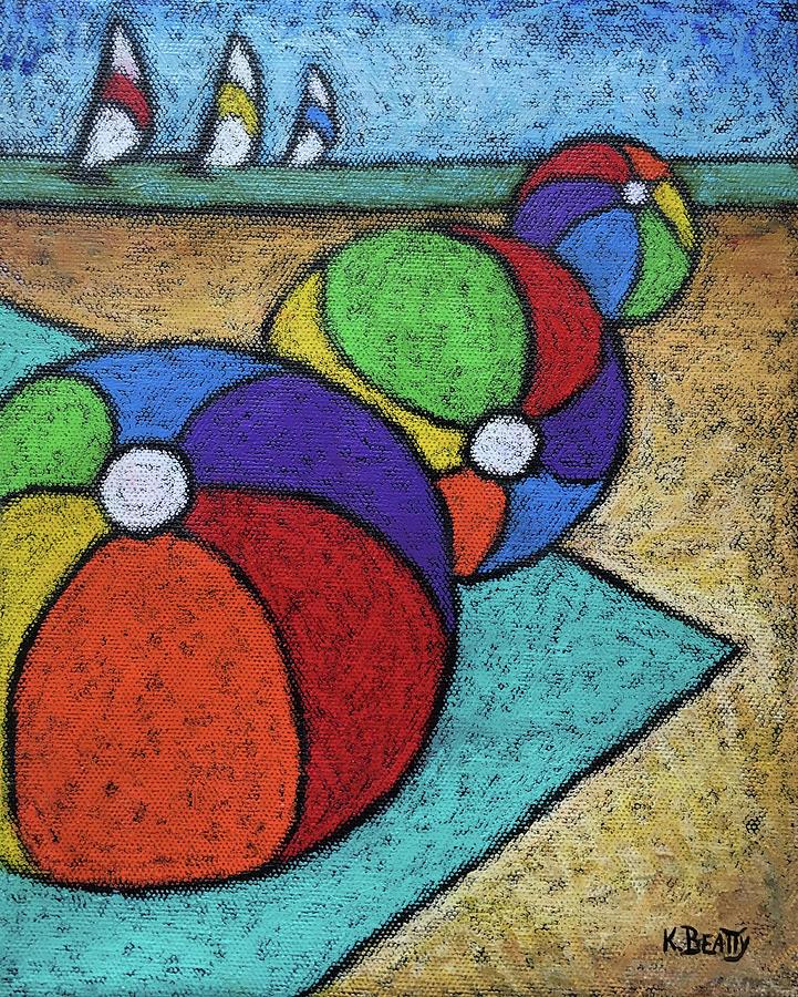 Beach Balls Three by Karla Beatty