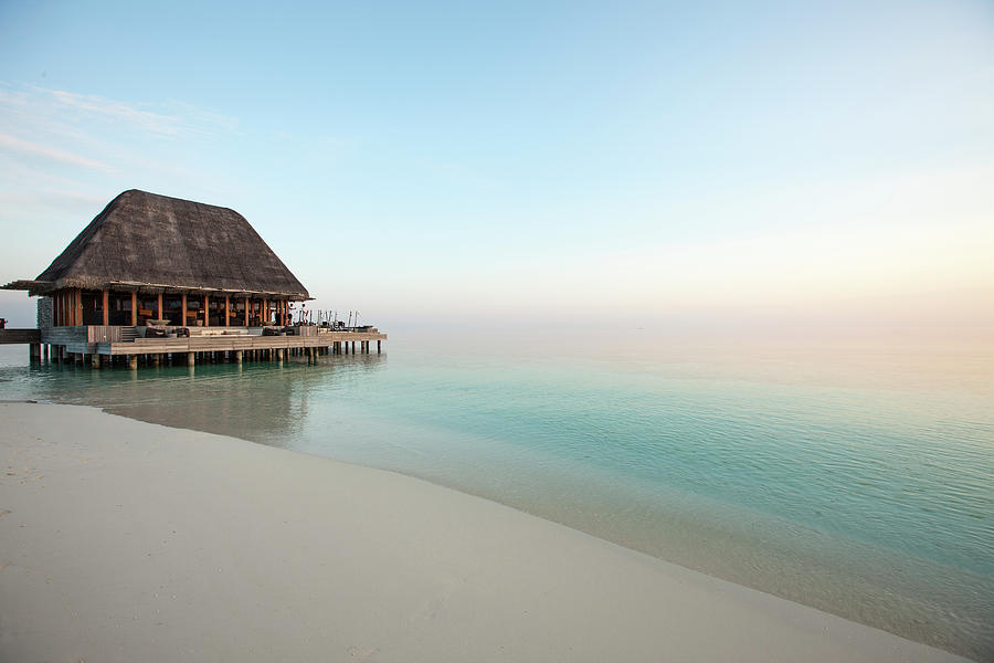 Beach Bar At W Hotel Maldives Photograph by Neil Emmerson