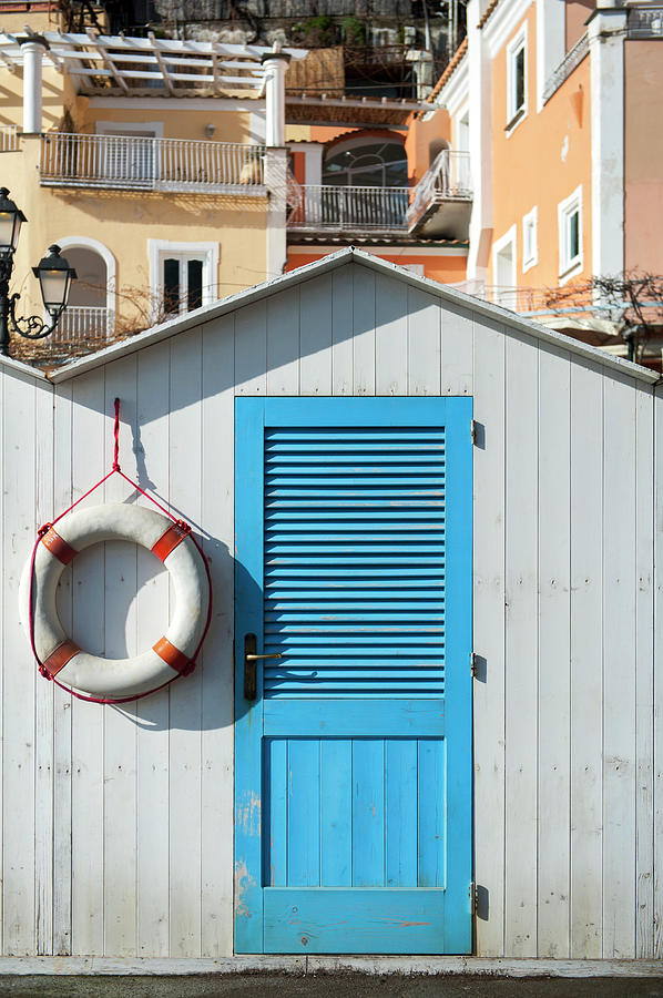 Beach Bathing Box And Life Buoy Photograph by Rachel Lewis