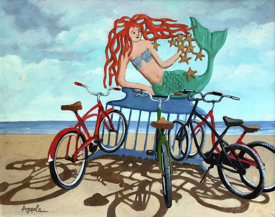 Beach Bikes by Linda Apple