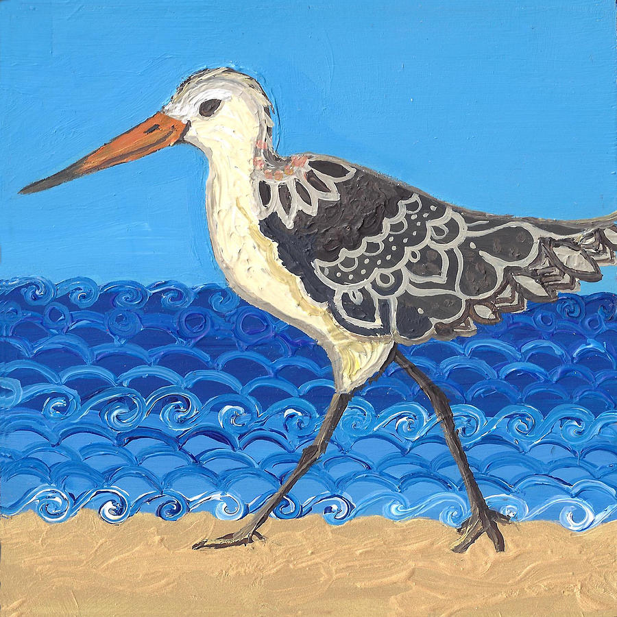 Beach Bird 2 by Caroline Sainis