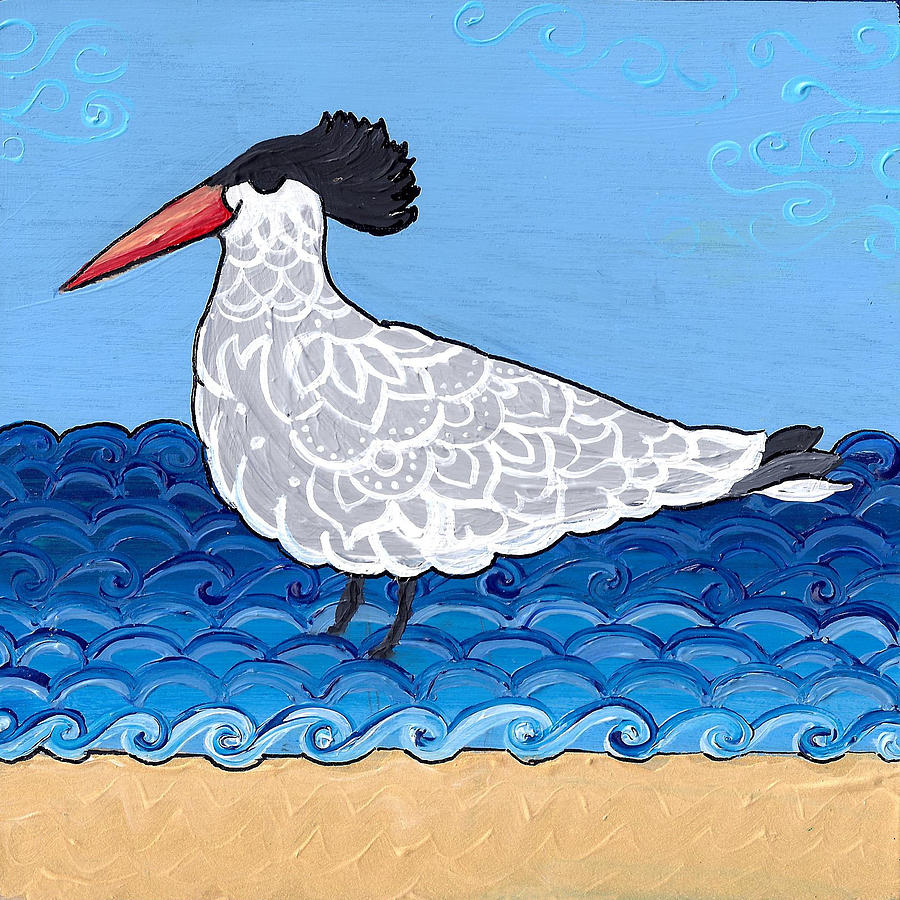Beach Bird 3 by Caroline Sainis