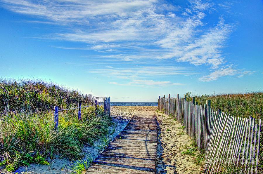 Beach Boardwalk on Cape Cod by Jean Hutchison