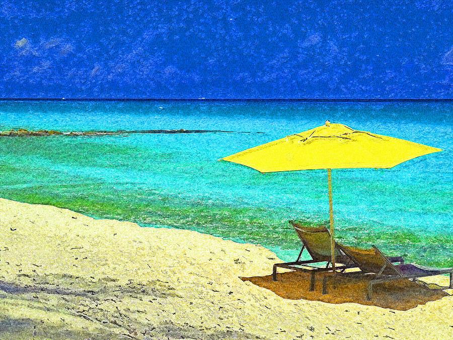 Beach Break on Bimini - Impressionism by Island Hoppers Art