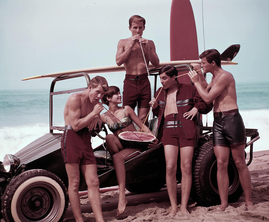 Beach Buggy Buddies Photograph by Tom Kelley Archive