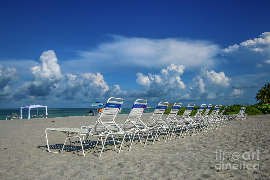 Beach Chair Line Up by Tom Claud